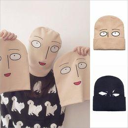 Wholesale Christmas Punches - Anime One Punch Man Saitama Woolen Beanie Hat Winter Hats for Men Women Warm Kniting Fedora Hat YYA889