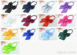 Wholesale Wholesaler For Bowties - 13colors new women`s neckties bow ties high quality women`s collar flower bowties adjustable size best for suit free shipping by DHL.