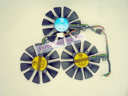 Wholesale Original Graphics cards cooling fan for ASUS STRIX RX480 O8G GAMING STRIX GTX1060 O6G GAMING GTX1070 GTX1080 PLD09210S12M PLD09210S12HH