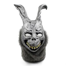 Máscaras zombie completas online-Envío gratis 2017 Venta al por mayor Fiesta de Halloween Cosplay Donnie Darko Rabbit Máscara Scary Animal Full Head Horror Máscara Zombie Devil Skull Máscara de juguete