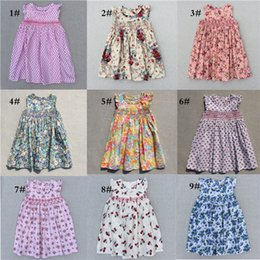 Wholesale Cotton Party Dresses For Girls - 2017 Girls Dresses Lovely Baby Girls New Dress Casual Party Dresses Bohemian Princess For 3-7 Years Kids Dress Fast Shipping