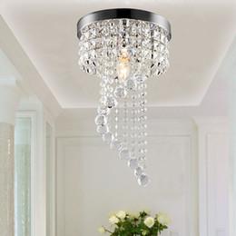 Wholesale Led Hallway Lighting For Office - 20 25cm Crystal Chandelier k9 led chandelier chandeliers lighting Flush Mount Ceiling Light Lamp for Aisle Stair Hallway Porch Lights
