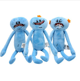 Wholesale Top Gifts For Christmas Kids - 25cm Rick and Morty Happy Sad Meeseeks Stuffed Plush Toys stuffed Dolls For Kids Christmas Gifts top quality