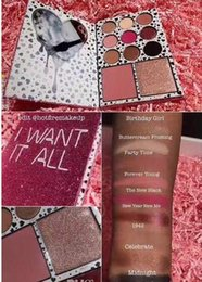 Wholesale I Makeup - NEW Kylie The birthday Collection Limited Edition I WANT IT ALL Eyeshadow Bronzer Blush palette 9 11colors eyeshadow Makeup Set