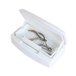 Wholesale Sterilizer Tray - Mini Nail Art Imported Resin Sterilizer Tray Disinfection Box Salon Beauty Manicure Tool Sterilizing Tray Nail manicure Tools