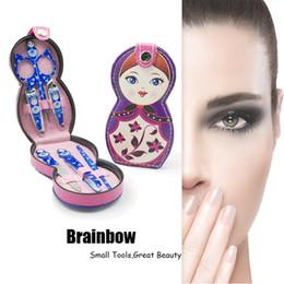 accessoires russes Promotion Brainbow 6pcs / Set Russe Dolly Nail Manucure Set Acier Inoxydable Professionnel Accessoires Ongles Kit Yeux Make Up Beauté Essentiel