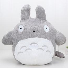 Wholesale Large Sized Cushions - 65cm Large Size Plush Doll My Neighbor Totoro with zongzi totoro as back cushion Soft Stuffed Plsu toys dolls
