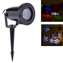Wholesale Laser Light Decorations - 1PC Outdoor Laser Lights Waterproof Snowflake Led Projector Lights RGB Lawn Spotlight for Xmas Holiday Garden decoration
