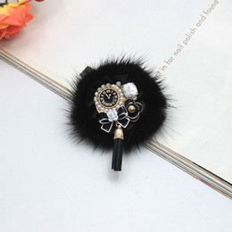 Wholesale Jewelry Scarves Sale - Wholesale- Hot Sale New Black Chuzzle Brooches Pin Women Gifts Tassels Pins Alloy Jewelry Clothing Gifts Girls Bijoux Scarf Free Shipping
