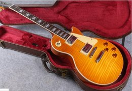 Wholesale Chinese Guitars For Sale - HOT SALE in Stock 1959 R9 honey Burst Chinese Paul Style Standard Electric Guitar with EMS Free Shipping