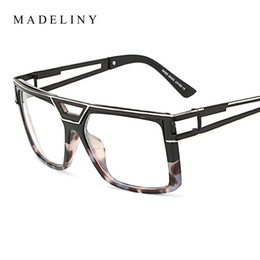 694107b312 Wholesale- Fashion Women Square Eyeglasses Frames Brand Designer New  Classic Oversized Metal Frame Glasses Personality Clear Lens MA372