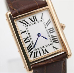 Wholesale Womens Watches Dress Style - New style Luxury quartz america golden red leather band sport watch sapphire quality ladies dial Date military dress casual womens watches
