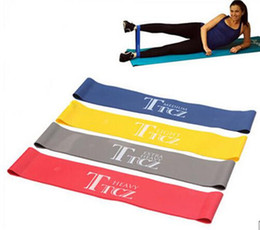 Wholesale Pilates Resistance Bands - Elastic Band Tension Resistance Band Exercise Workout Ruber Loop Crossfit Strength Pilates Training Expander Fitness Equipment