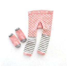 Wholesale Girl Boys Pics - New Baby Toddler Child Pants Lovely Cute Cartoon PP Pants and Socks 2 Pics Animal Printing Boys Girls Leggings Pink Rabbit