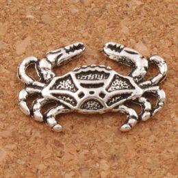 Krabbenohrringe online-Krabbe Claws Animal Charms Anhänger 200pcs / lot 19.5x12.6mm Antik Silber Schmuck DIY Fit Armbänder Halskette Ohrringe L180