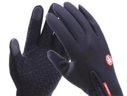 Wholesale Fleece Gloves Black - Outdoor waterproof touch screen gloves wind riding kids adult full that zipper movement winter warm Fleece ski climbing gloves