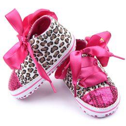 Wholesale Toddler Leopard Sneakers - Wholesale- Hot Sell Baby Toddler Leopard Sneaker Infant Girl Kid Sequin Cozy Crib Shoes L07