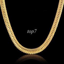 Wholesale Thick Gold Chain Long - Vintage Long Gold Chain For Men Hip Hop Chain Necklace New Gold Plated 8mm Curb Chain Thick Bohemian Jewelry Colar Collier