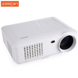 Wholesale Beamer Lamp - Wholesale-Original Powerful LCD Projector Home Theater 3500 Lumens 800*480 Pixels Multimedia Digital 100W LED Lamp LCD Projector Beamer