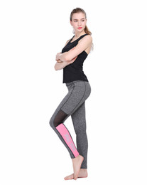Wholesale Sexy Ladies Wearing Leggings - 2017 High-quality Woman Yoga Outfits Sexy tight Trousers Leggings Fitness Gym Clothes Ladies Yoga Running L PINK Print Pants Elastic wear