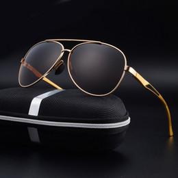 Wholesale Google Eye Glasses - Wholesale- 2017 Brand Design Sunglasses Men Polarized Sun Glasses UV400 Eyes Protect Coating Eyewear Google Pilot With box NG-39