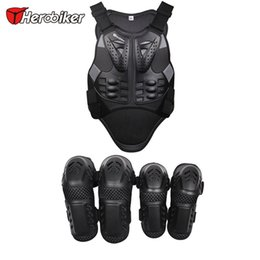 Wholesale Stripped Vest - HEROBIKER Motorcross Racing Motorcycle Body Armor Protective vest +Motocycle knee pads with a reflecting strip motorcycle armor