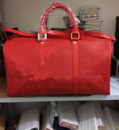 Wholesale Ladies Patent Leather Totes - Fashion Women Bags Handbags PU Leather Famous Jet Set Travel Saffiano Famous Brand Designer Tote Lady Female Bag 45CM