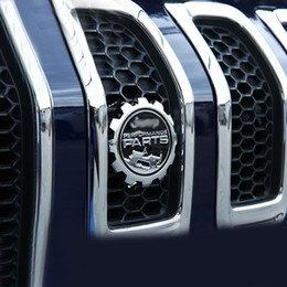 Wholesale Jeep Cherokee Stickers - For Jeep Wrangler JK Renegade Compass Cherokee Patriot Car Front Grille Modified Decor Car-Styling Metal Performance Parts