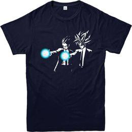 2017 de Manga Corta Camisetas de Algodón Hombre Ropa Dragon Ball Z Camiseta Pulp Fiction Spoof Camiseta, Goku Top desde fabricantes
