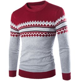 Wholesale Mens Fall Fashion Sweaters - Wholesale- 2016 New Autumn Winter Round Neck Pullover Men Slim Fit Knitted Sweater Pull Homme Jersey Hombre Mens Sweaters Fall Knitwear
