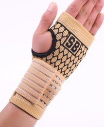 Wholesale Volleyball Wrist Support - Wholesale- Elastic terylene latex material basketball volleyball palm hand bandage support free shipping #ST3011
