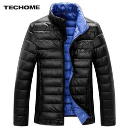 white waterproof clothing Promo Codes - Wholesale- 2016 New Winter Ultralight Men White Duck Down winter jacket men Duck Down Coat Waterproof Down Parkas Outerwear brand-clothing