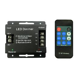 Wholesale 216w Led - RF 11Key LED Dimmer DC12-24V 216W for Single Color 5050 3528 LED Strip Lights