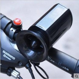 Wholesale horn sounds free - Black 6 Sounds Super Loud Ultra-loud Electronic Bicycle Bell Bike Horn Siren Free shippping