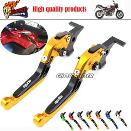 Wholesale R Brakes - Motorcycle Adjustable Brake Clutch Levers fits For Aprilia TUONO   R CAPANORD 1200 Rally RSV MILLE   R FALCO   SL1000 DORSODURO 1200