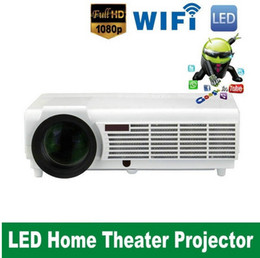Wholesale Smart Tv Lcd 3d - Free Shipping High level Full HD LED96Wifi Projector build android 4.4 system 3D LCD Smart Home Theater TV HDMI 5500 Lumen 1080p