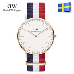 Wholesale Men D Watch - New Fashion men women D Wellington Watch 40mm men watches Women Watches Luxury Brand Quartz Watch Clock Relogio Feminino Montre Femme