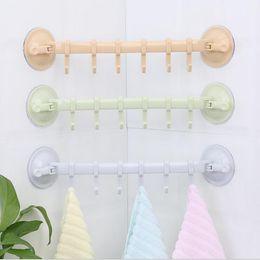 Пластиковые настенные стенды онлайн-крючки кухня ванная комната регулируемые пластиковые стены дверь вешалки крючки полки двойной присоски вакуумные для одежды стойки крюки