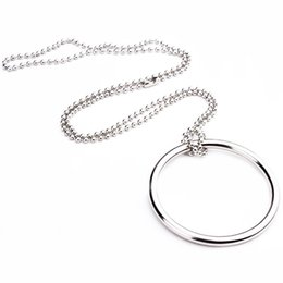 Wholesale Chain Ring Tricks - Wholesale- 2 pcs New Self Linking Ring Chain Close-up Stage silver Magic Trick Ring of Tomorrow interseting street magic S43
