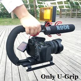 "Wholesale Grip Stabilizer - Ulanzi U-Grip Triple Shoe Mount Video Stabilizer Handle Grip 1 4""-20 for Nikon Canon Camera filmmaking,for iPhone 7 plus"