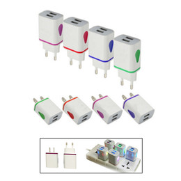 Wholesale Led Android Charger - 2.1A USB Wall Charger Led Light US Charging Plugs AC Travel Adapter for iPhone Samsung Android Phone Tablet