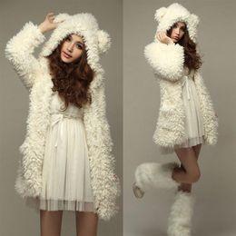 Wholesale Women S Hooded Thickening Fleece - 2017 Autumn Winter New Women Kawaii Bear Ears Hooded Chaquetas Mujer Thicken Fleece Coat Jacket Fashion Winter Warm Outerwear Hoodies