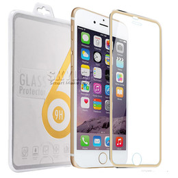 Wholesale For Iphone Titanium Rim Tempered Glass Screen Protector Full Cover Screen Film mm D H Explosionproof For Iphone Retail Package