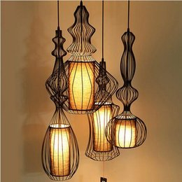 Wholesale coffee lamps - Amercan pendant lighting vintage lights iron retro hanging lamp for dining room coffee bar restaurant lights home lighting