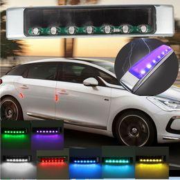 Wholesale Emergency Car Strobe Lights - Hot Wireless Light Car Solar LED Emergency Light Flashing Lights DC 12V Strobe Warning Light Colorful