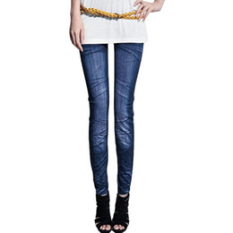 Wholesale Skinny Jeans Wholesale Prices - Wholesale- Factory price Sexy Women Jeans Skinny Jeggings denim Stretchy Slim jeans Leggings Skinny Pants ripped jeans for women 2017
