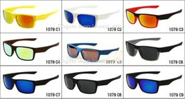 Wholesale face sunglass - Free delivery black frame Gray lens two face sunglass men sunglasses sport sunglasses 9color Can choose