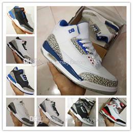 Wholesale Mens Shoes Drop Shipping - 2017 high quality Wholesale cheap New retro 3 3s III mens basketball shoes sneakers running shoes for men shoes Drop Free shipping US 8-13