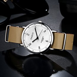 Wholesale Wholesale Gold Watches China - China Famous Brand Luxury Gold Men Watch Women Dress Steel Waterproof Watch reloj hombre White Black Dial