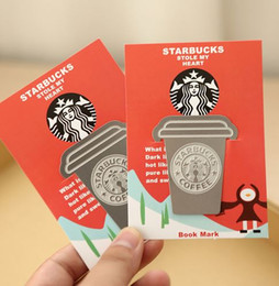 Wholesale Book Clip Metal Bookmark - Creative Starbucks Metal Bookmarks Collector's Edition Bookmark For Books Mark Clips Office Teacher Gift Kids School Supplies